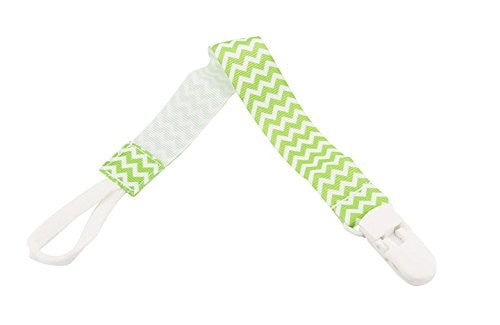 Babies Bloom Green Infant Pacifier Clip Holder - Set of 2