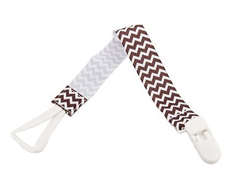 Babies Bloom Brown Infant Pacifier Clip Holder - Set of 2