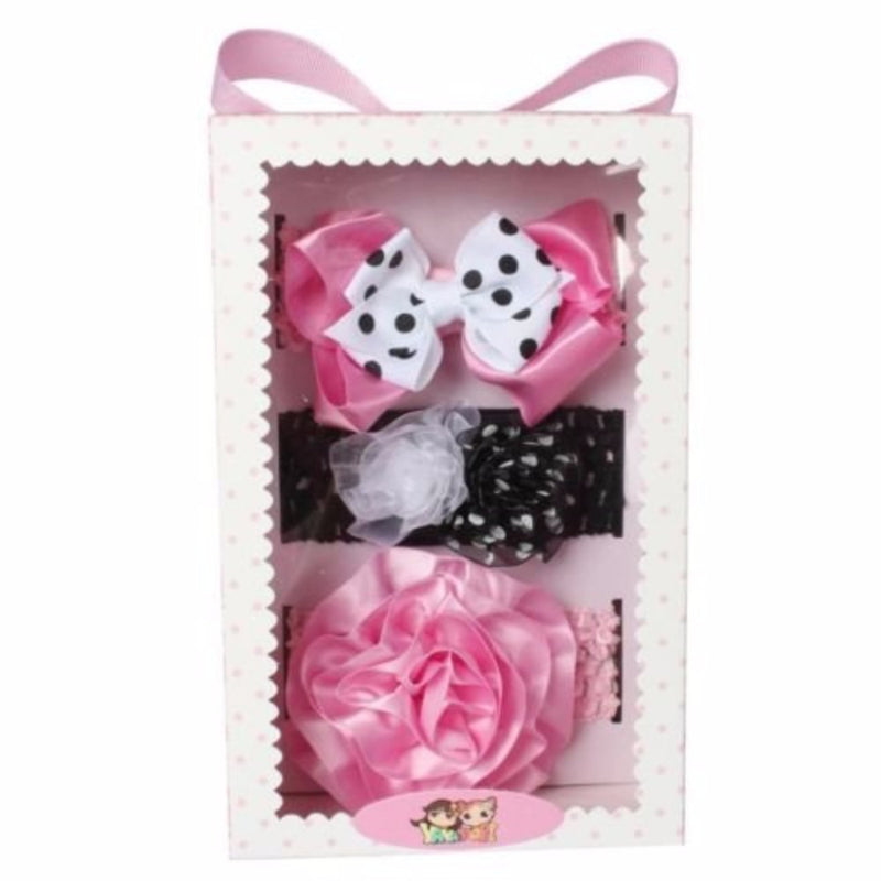 Babies Bloom Multicolored Pink and Black Hair Accessory Set