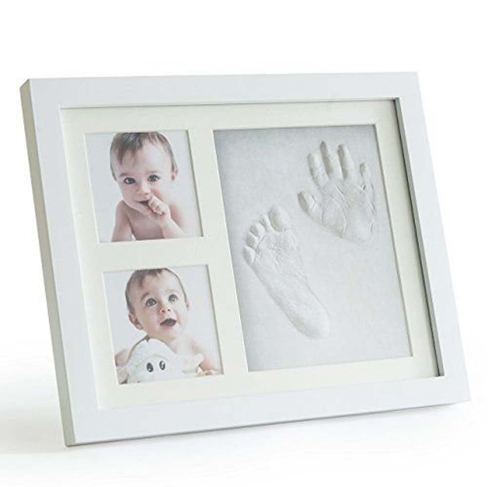 Babies Bloom White Charming Baby Handprint And Footprint Frame Kit ...