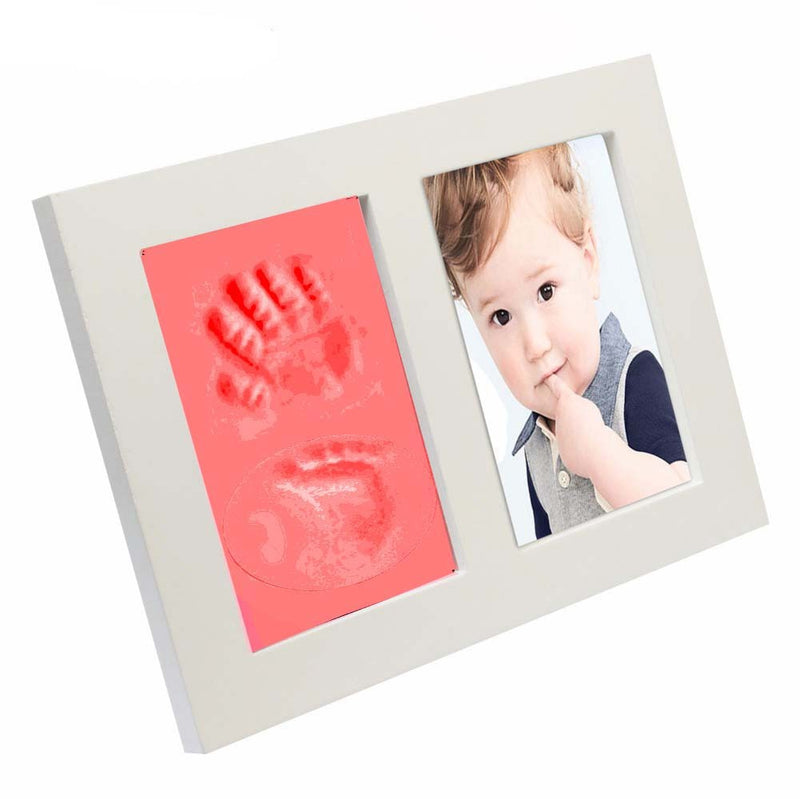 Babies Bloom Red Baby Hand and Footprint Imprint Frame Kit