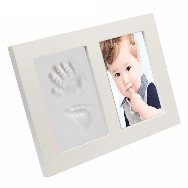 Babies Bloom White Baby Hand and Footprint Imprint Frame Kit