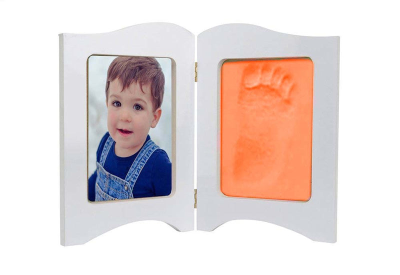 Babies Bloom Baby Keepsake Photo Frame With Orange Clay