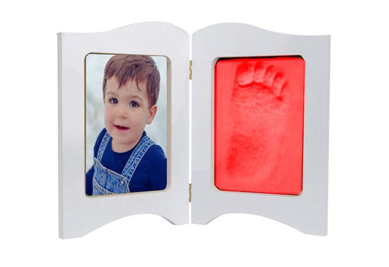 Babies Bloom Baby Keepsake Photo Frame With Red Clay