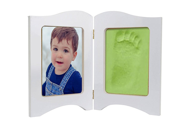 Babies Bloom Baby Keepsake Photo Frame With Green Clay