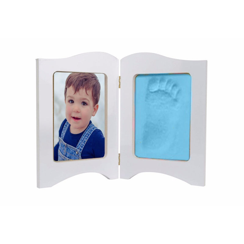 Babies Bloom Baby Keepsake Photo Frame With Blue Clay