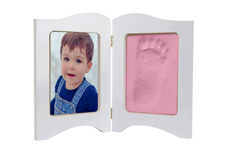 Babies Bloom Baby Keepsake Photo Frame With Pink Clay