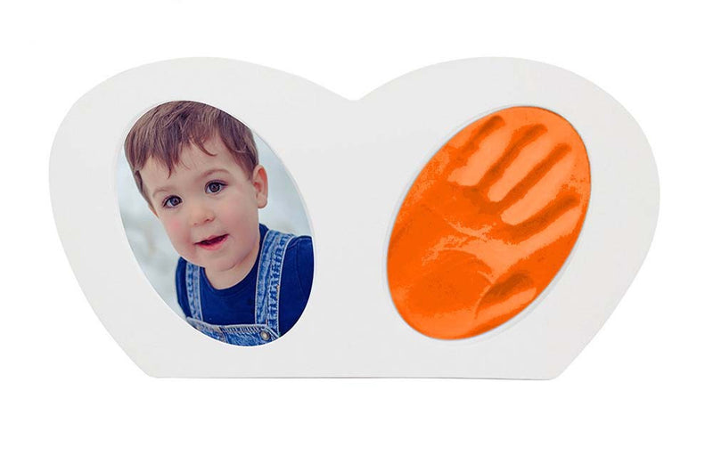 Babies Bloom Baby Little Hands - Hand-print Frame with Orange Clay