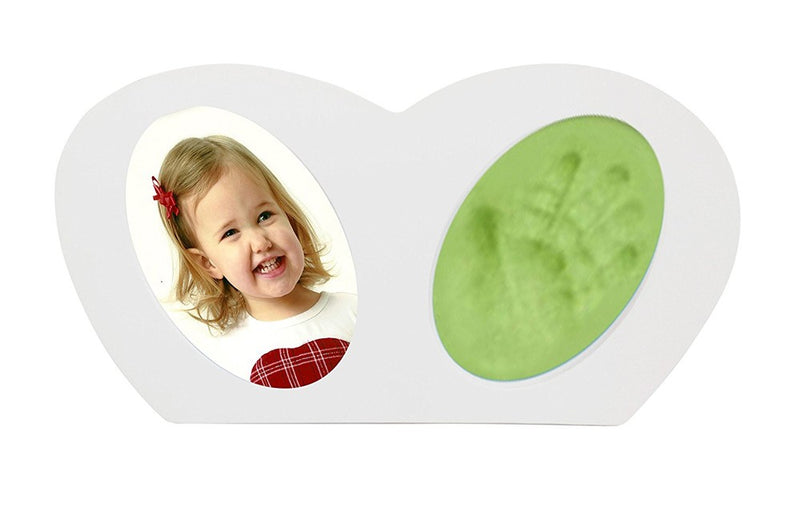 Babies Bloom Baby Little Hands - Hand-print Frame with Green Clay
