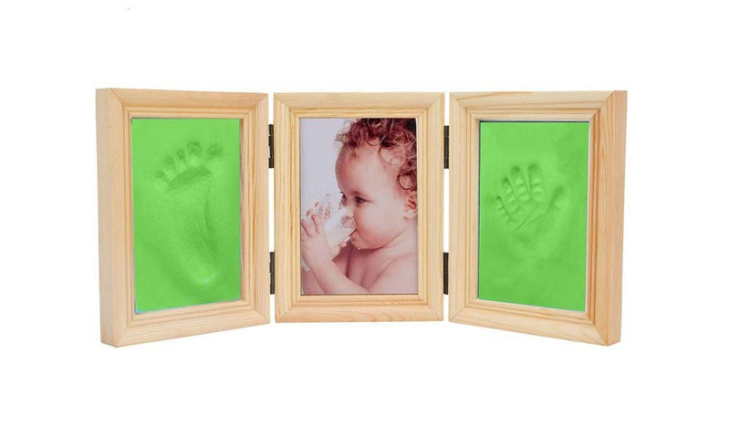 Babies Bloom Baby Milestones Imprint Frame With Green Clay