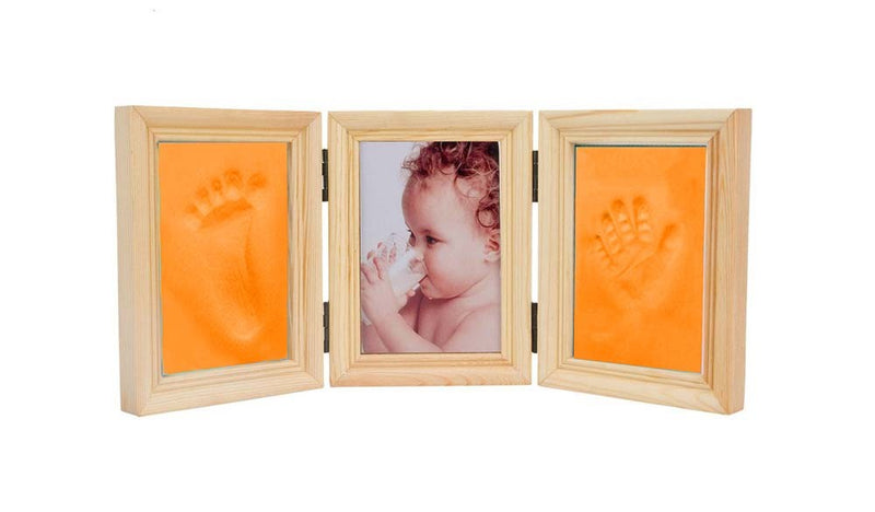 Babies Bloom Baby Milestones Imprint Frame With Orange Clay