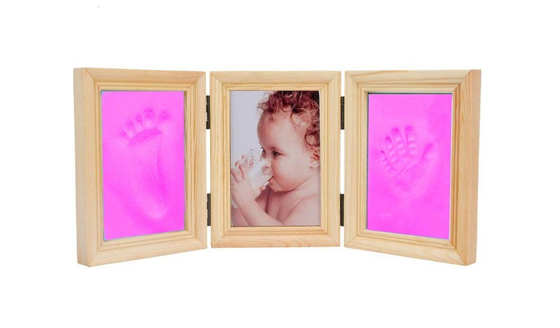 Babies Bloom Baby Milestones Imprint Frame With Pink Clay