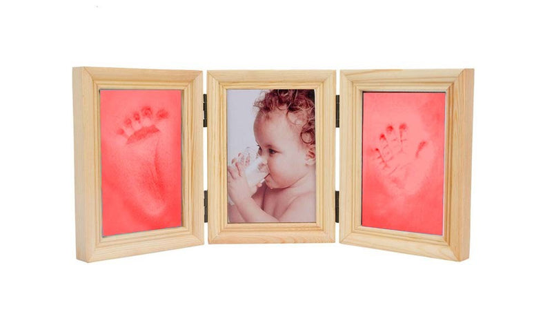 Babies Bloom Baby Milestones Imprint Frame With Red Clay