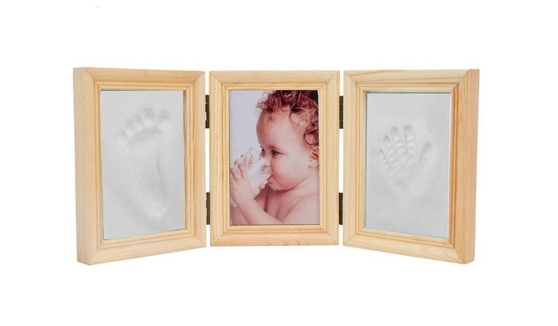 Babies Bloom Baby Milestones Imprint Frame With White Clay