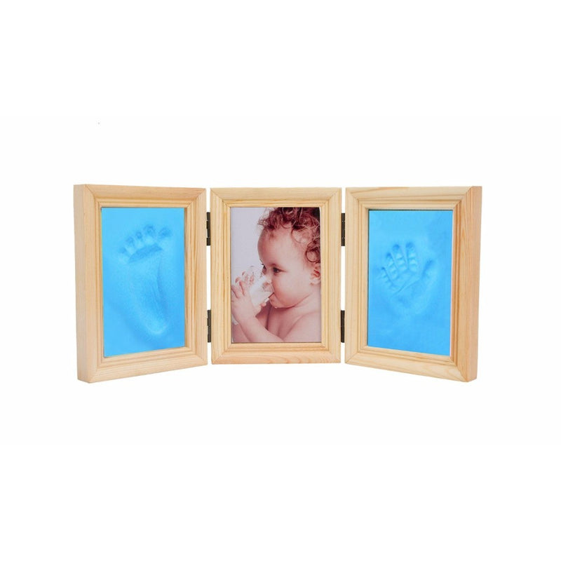 Babies Bloom Baby Milestones Imprint Frame With Blue Clay