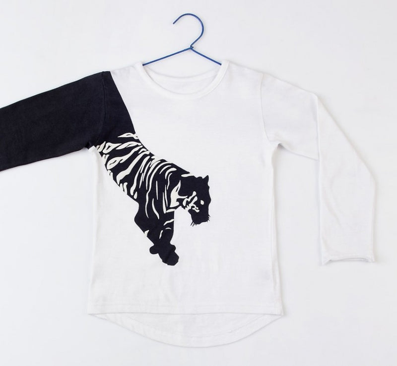 Black Tiger - Long sleeves Tee