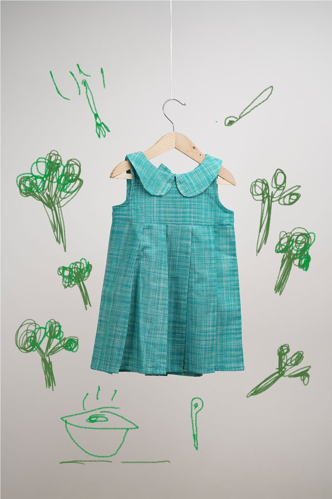 The Broccoli Forest' Sleeveless Dress for girls