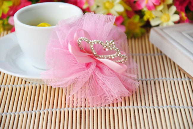AkinosKIDS Pink Glitter Crown Hair Clip