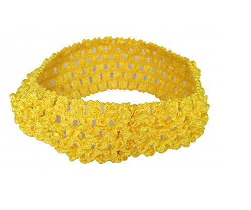 Bellazaara Girls' Yellow Crochet Soft Knitted Hairband
