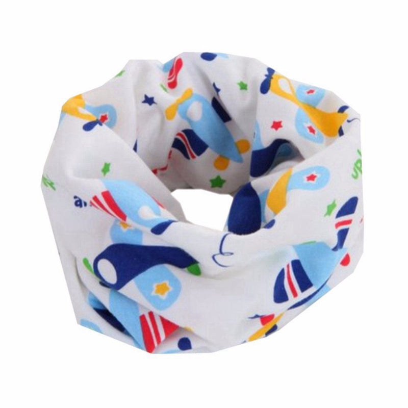 Bellazaara Kids' Blue Autumn Winter O-Ring Infinity Planes Printed Neck Scarf