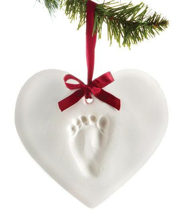 Baby Prints X Mas Ornament Heart