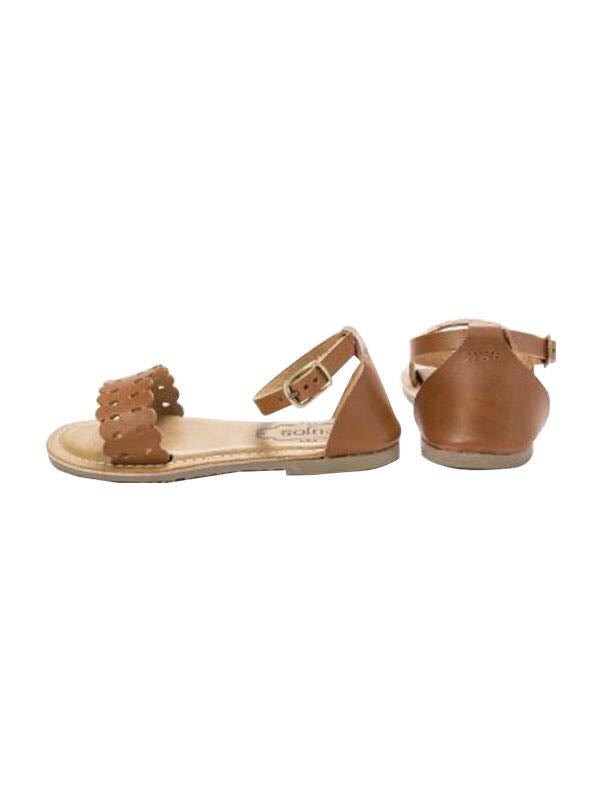 Cujos Petra Buckle Closure Sandals - Tan Brown