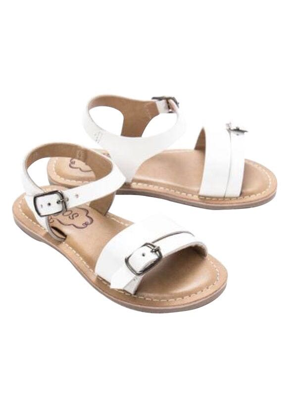 Cujos Calpe Buckle Strap Design Sandals - White