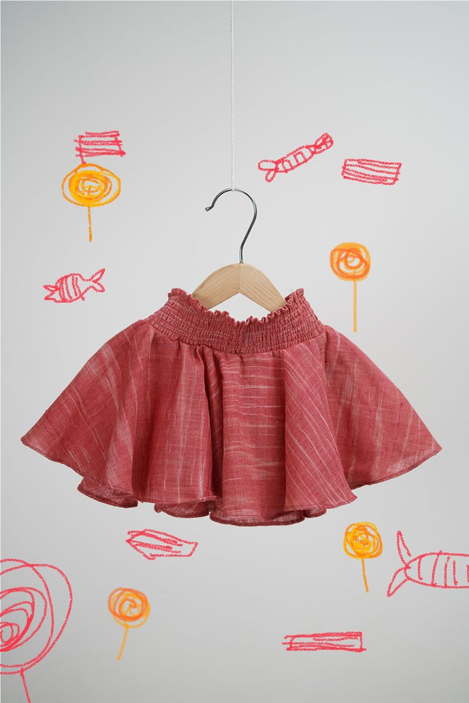 Round and Round Red Sugar Candy Skirt for Girls