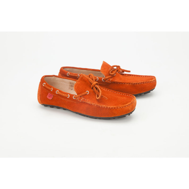 Careeno Chiaro Boys' Orange Suede Leather Loafers