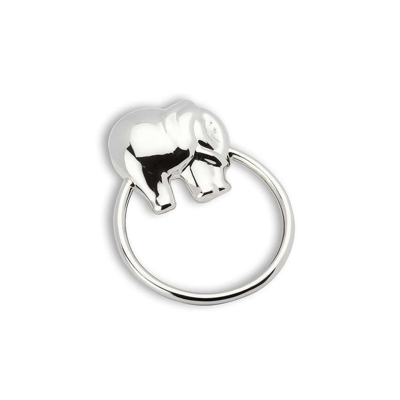 Krysaliis Silver Elephant Ring Rattle