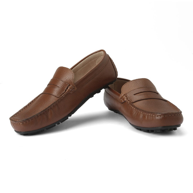 Careeno Carmelo Boys' Tan Leather Loafers