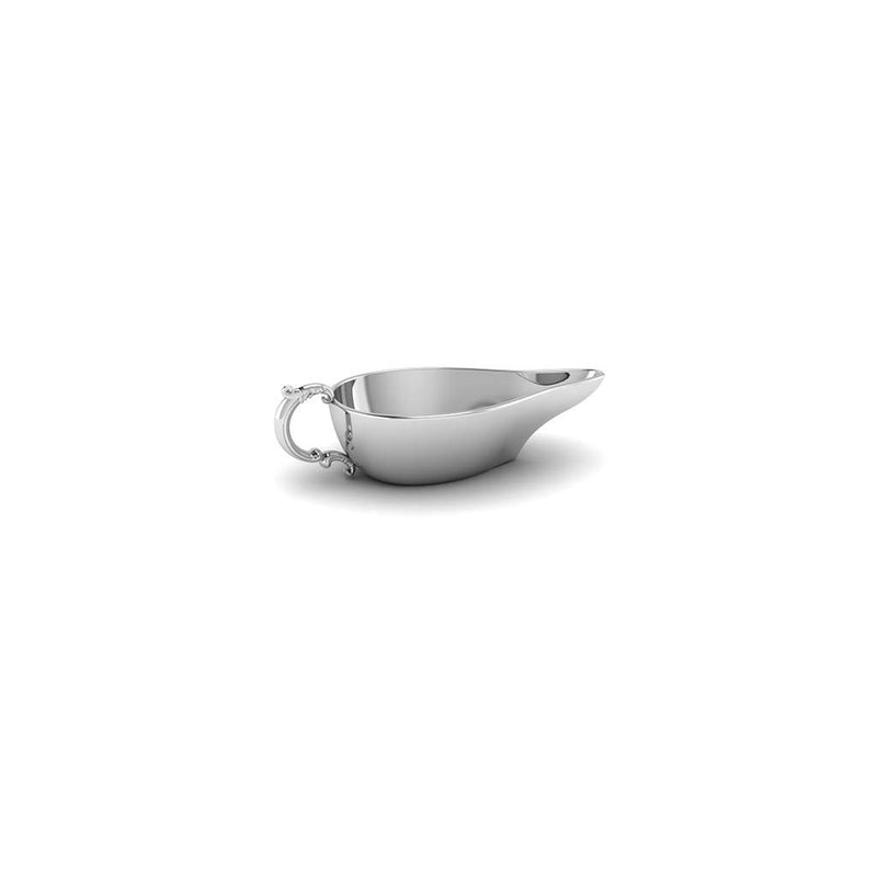Krysaliis Silver Flat Medicine Porringer with Victorian Handle