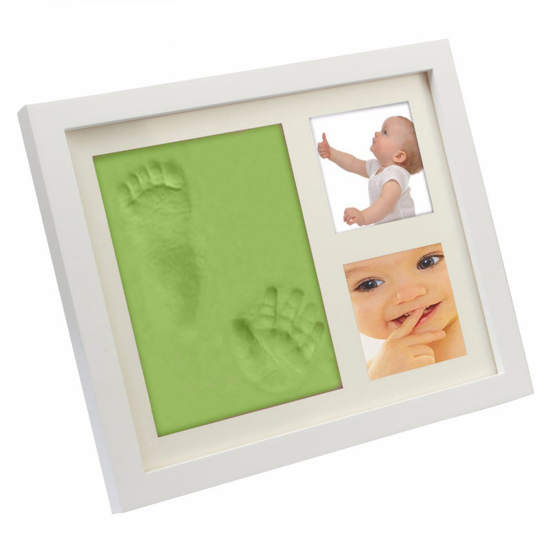 Babies Bloom Green Charming Baby Handprint And Footprint Frame Kit