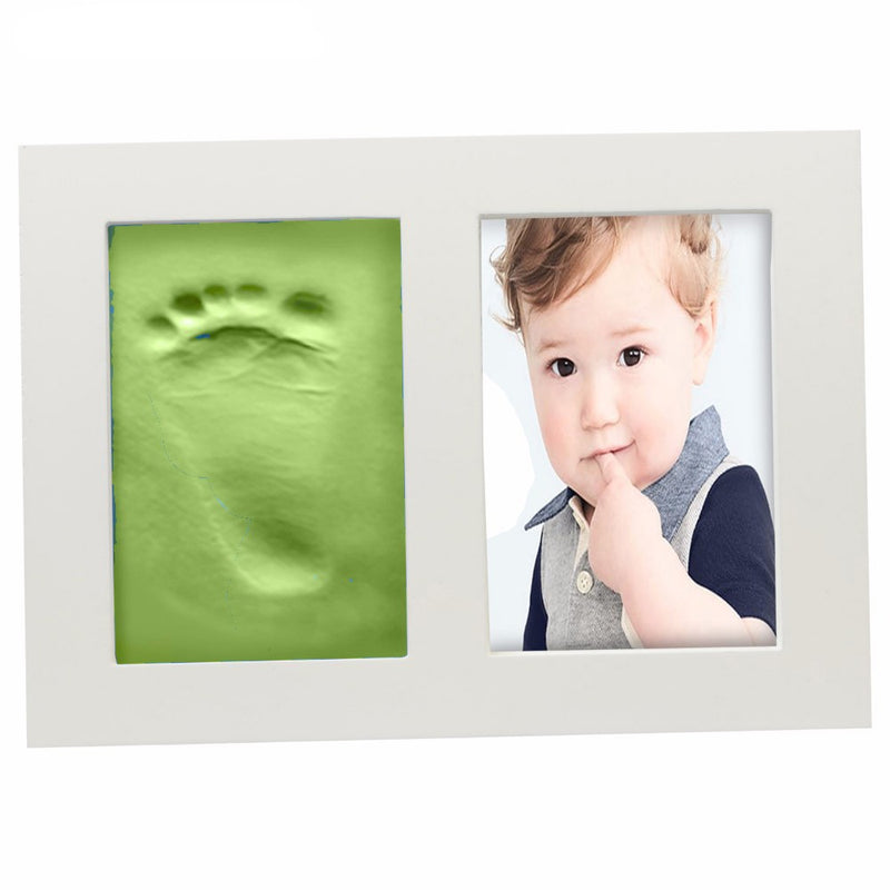 Babies Bloom Green Baby Hand and Footprint Imprint Frame Kit