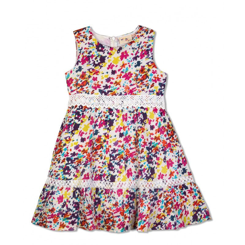 Budding Bees Girls Gathered A Line Dress