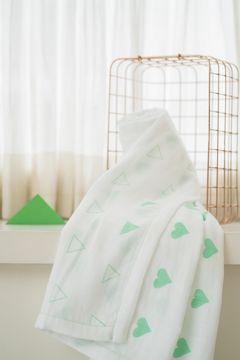 Grace Organic Cotton Blanket/ Dohar in Green