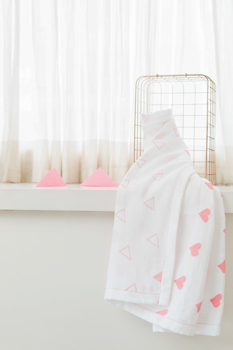 Grace Organic Cotton Blanket/ Dohar in Pink