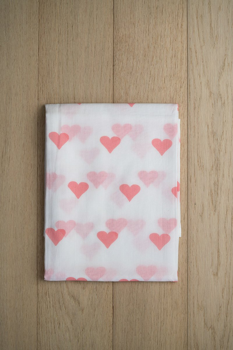 Grace Organic Cotton Swaddle in Pink