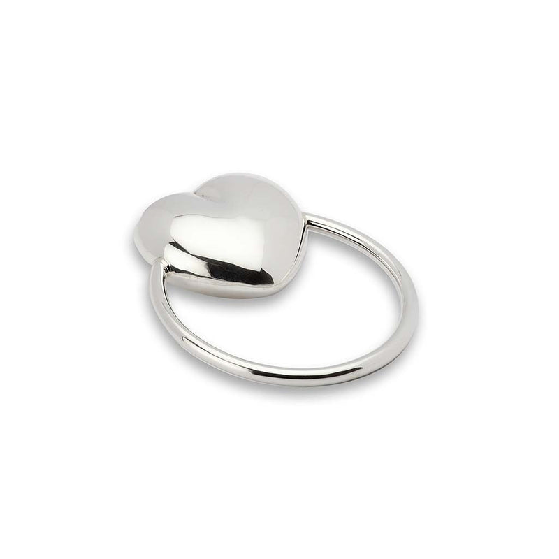 Krysaliis Silver Heart Ring Rattle