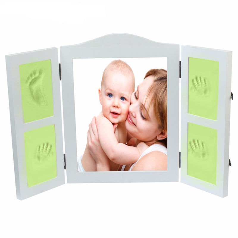 Babies Bloom Green DIY Hand-print and Footprint Keepsake Photo Frame