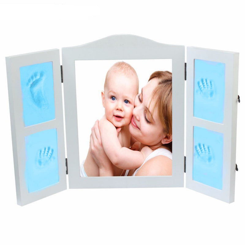 Babies Bloom Blue DIY Hand-print and Footprint Keepsake Photo Frame