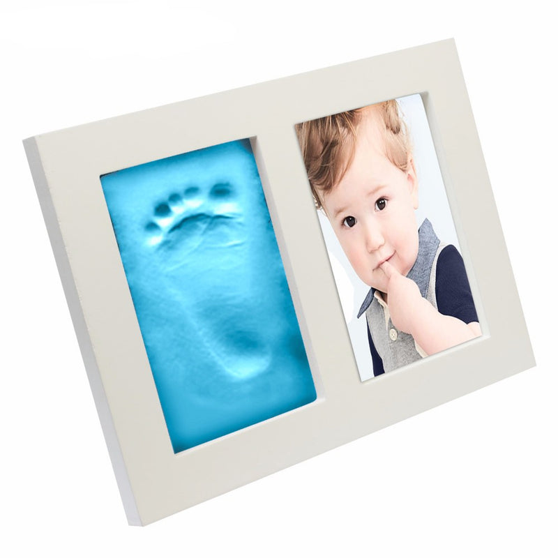 Babies Bloom Blue Baby Hand and Footprint Imprint Frame Kit