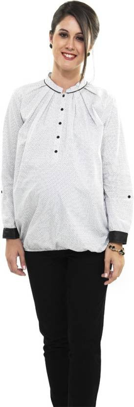Nine Maternity White Formal Blouse