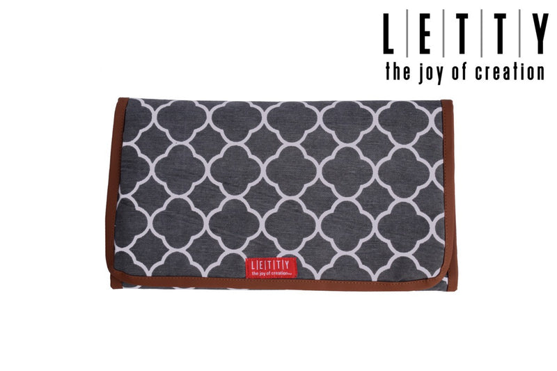 LETTY Clutch Style Cushioned Diaper Changing Mat- Grey