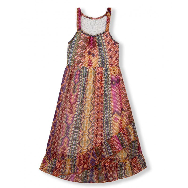 Budding Bees Girls Multicolor Maxi Dress