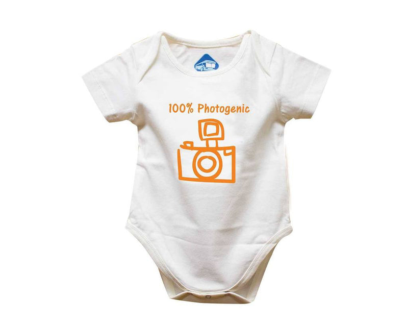 Blue Bus Store White 100% Photogenic Printed Romper