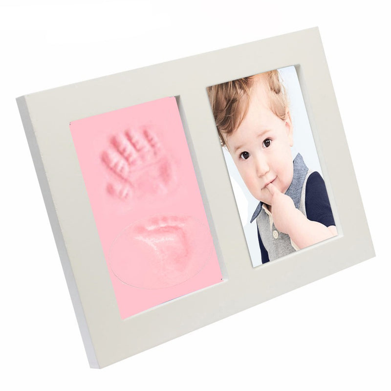 Babies Bloom Pink Baby Hand and Footprint Imprint Frame Kit