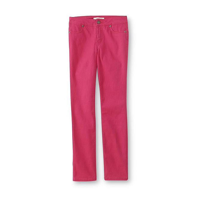 Munchkinz Girl's Pink Colored Skinny Jeans
