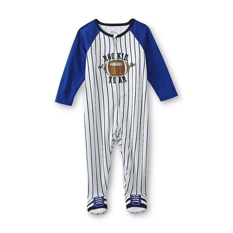 Munchkinz Newborn & Infant Boy's Sleeper Football Style Bodysuit