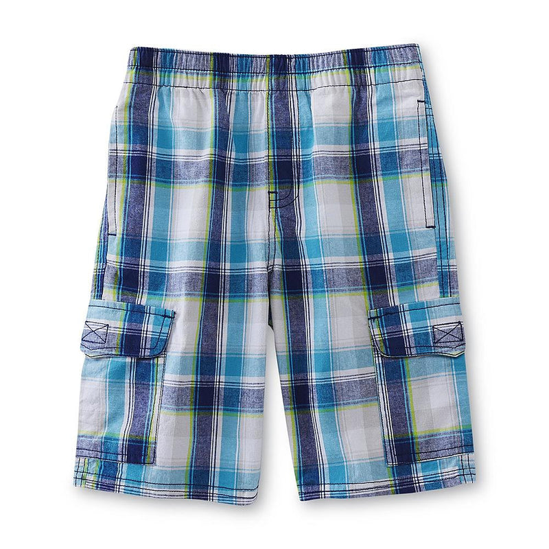 Munchkinz Boy's Blue Plaid Shorts